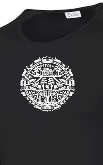 Funktionale Wander-T-Shirts von der Scherenschnitt-Künstlerin Beatrice Straubhaar: atmungsaktiv, schnelltrockenend, super leicht