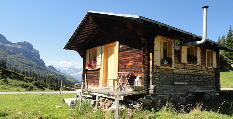 Übernachten und Ferien in Alphütten und Maiensässe in der Schweiz