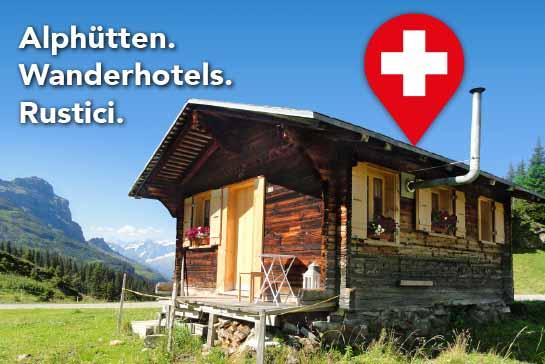 Alphütte, Maiensäss, Ferienwohnung, Ferienhaus, Rustico mieten oder übernachten im Wanderhotel