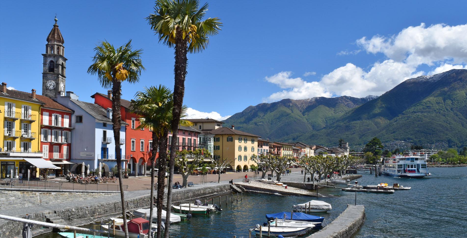 Wanderung von Ronco sopra Ascona mit Blick auf den Lago Maggiore via Monte Verità nach Ascona