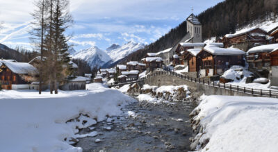Winterwanderung im Lötschental, Wallis, von Blatten zum Weiler Eisten und wieder zurück nach Blatten