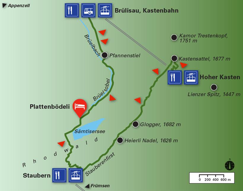 Wanderung Brülisau Plattenbödeli Sämtisersee Staubern