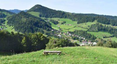 Wanderung von Brunnadern via Gerensattel zum Baumwipfelpfad Neckertal in Mogelsberg