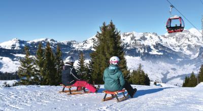 Winterwanderung auf dem Chäserrugg im Toggenburg auf dem Panoramarundweg via Rosenboden zurück zum Chäserrugg mit anschliessendem Schlitteln von Stöfeli nach Iltios (Unterwasser)