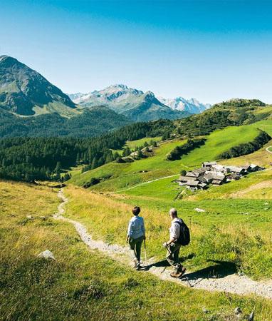 Oberengadin / Engadin – Wanderferien und Wandern ohne Gepäck