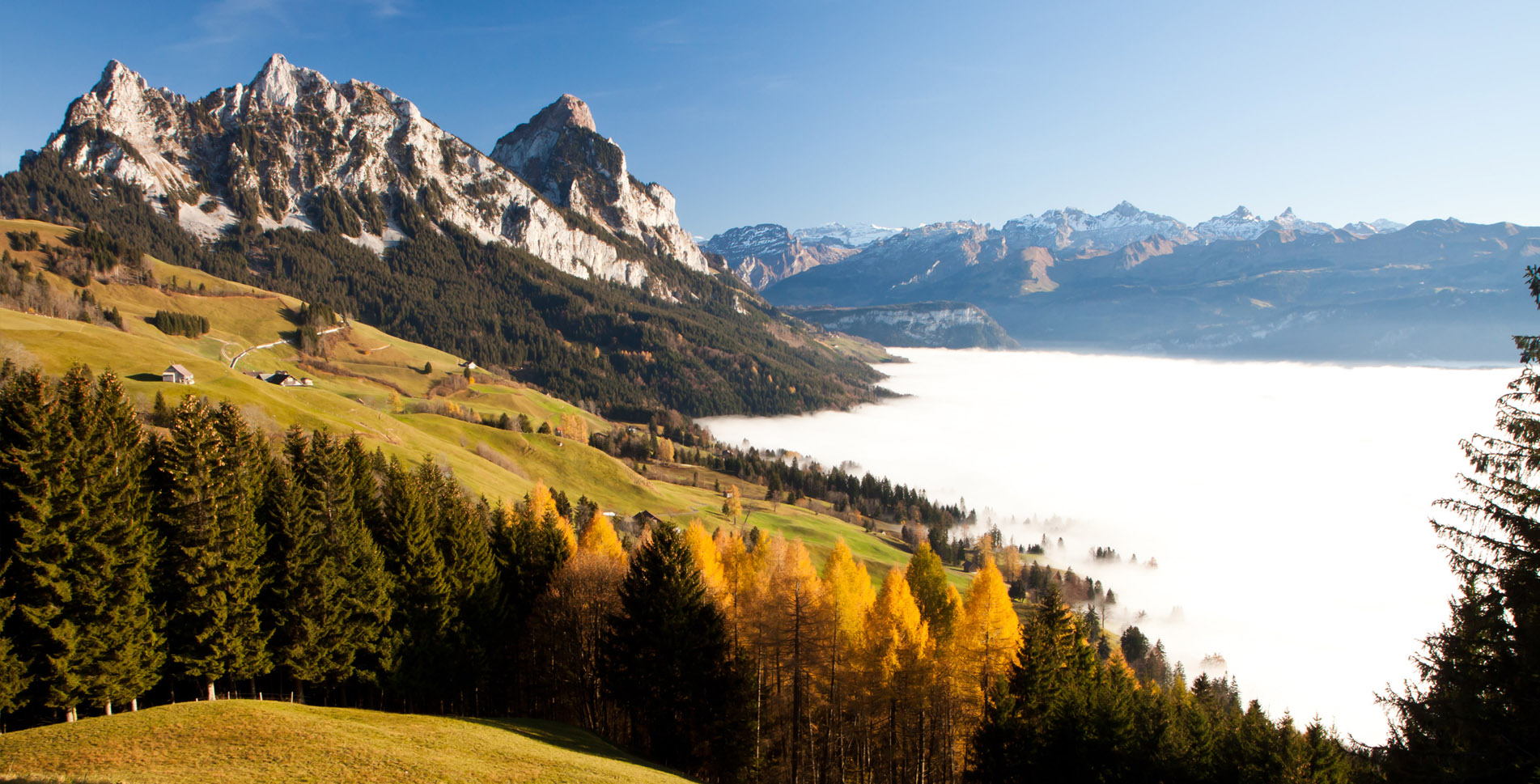 Wanderung Engelstockrundweg auf dem Sattel-Hochstuckli