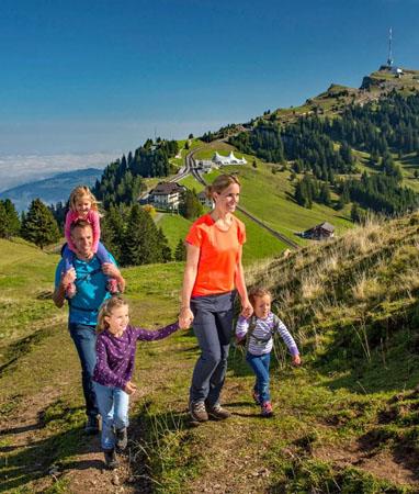 Familienwanderungen / Wandern mit Kindern - Wanderferien und Wandern ohne Gepäck