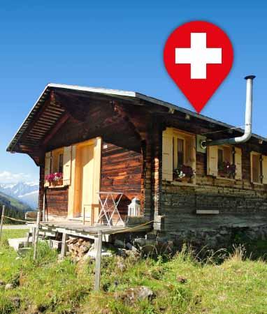 Mieten: Alphütten, Maisensässe, Rustici, Ferienwohnungen, Ferienhäuser und Wanderhotels – Ferien in der Schweiz