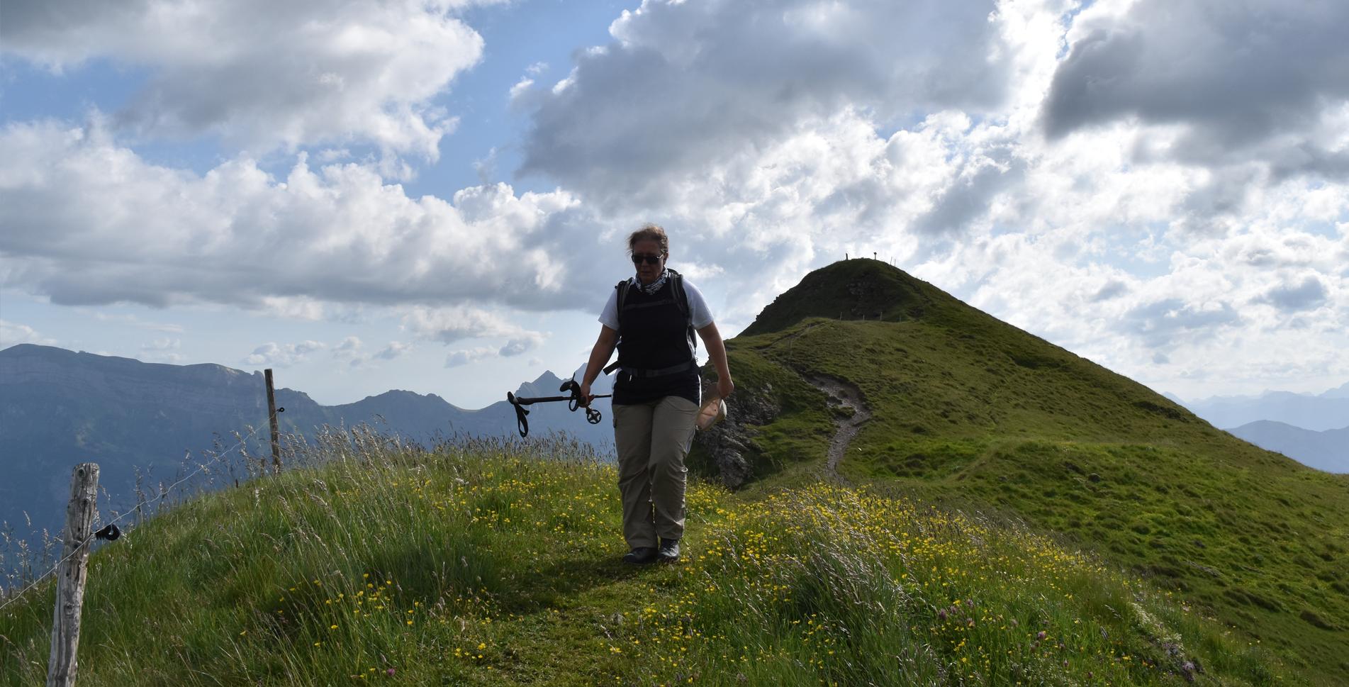 Wanderung im Flumserberg vom Maschgenkamm auf der 7-Gipfel-Tour via Seebenalp zur Tannenbodenalp