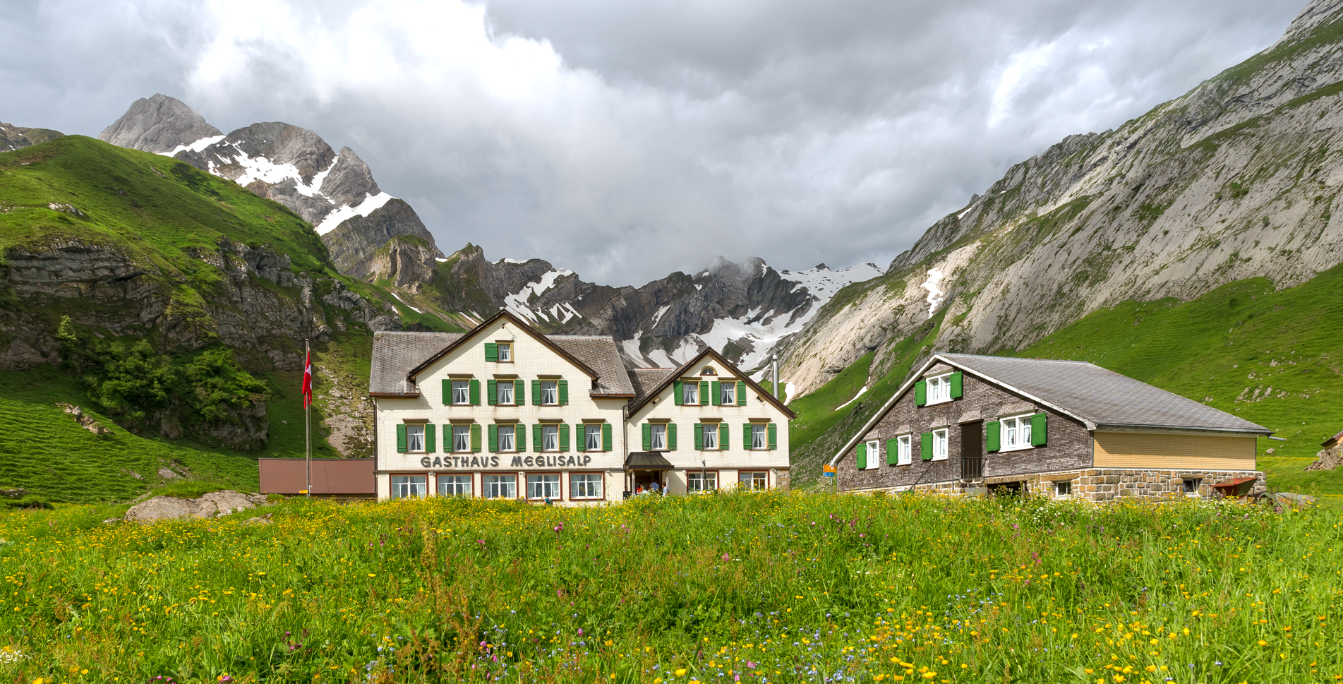 Berggasthaus Meglisalp im Alpstein, Appenzell