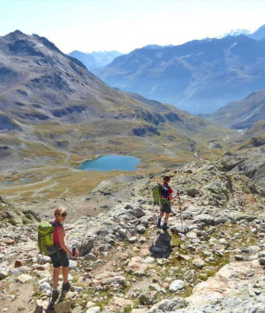 Graubünden / Engadin – Wanderferien und Wandern ohne Gepäck