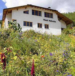 Hotel Helvetia in Müstair im Val Müstair / Müstertal im Schweizerischen Nationalpark