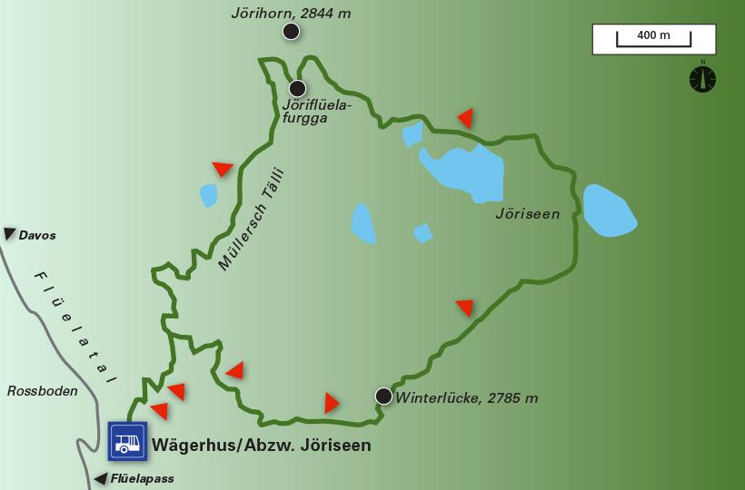Jöriseen Rundwanderung (Davos, Flüelapass)   WegWandern.ch