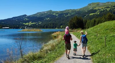 Wanderung von Lenzerheide via Lantsch / Lenz, Alvaschein, Mistail nach Tiefencastel auf der 2. Etappe der Via Sett
