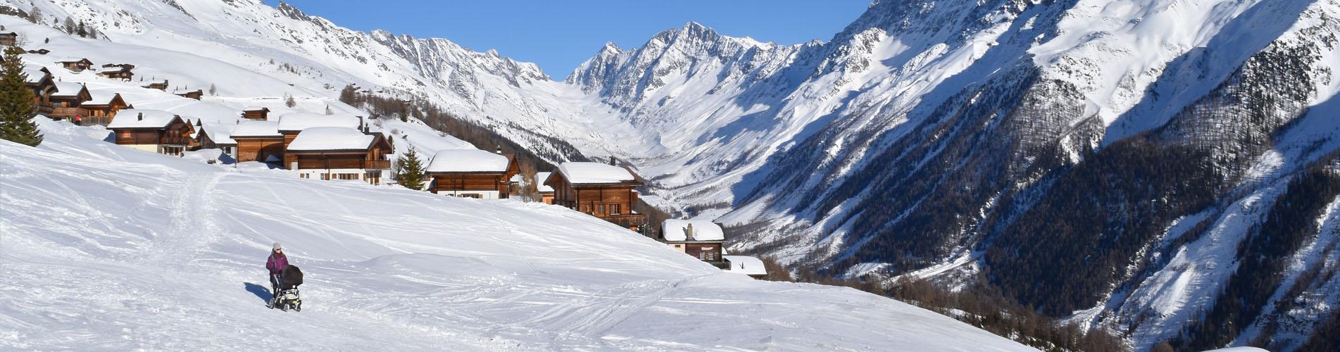Winterwanderungen und Schneeschuhtouren im Lötschtental, Wallis