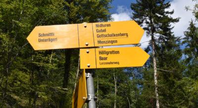 Wanderung zu den Höllgrotten Baar durch das Lorzentobel auf dem Industrielehrpfad von Neuägeri nach Baar