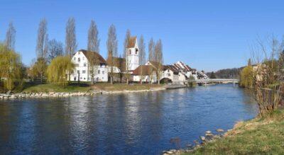 Wanderung von Mellingen nach Bremgarten an der Reuss entlang via Gnadenthal, Stetten, Sulz, Künten, Eggenwil im Kanton Aargau auf dem Aargauer Weg Nr. 42 – herrlicher Wanderweg am Reussufer mit tollen Feuerstellen