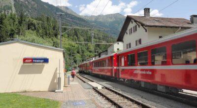 Wanderung von Miralago im Puschlav / Valposchiavo am Lago di Poschiavo entlang nach Le Prese