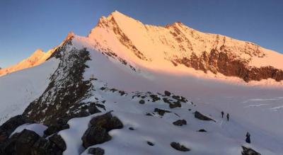 Wanderung / Tour von Saas Fee Hannig / Hannigalp via Unteres Distelhorn zur Mischabelhütte