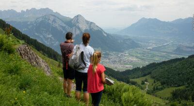 Familienwanderung / Wandern mit Kindern am Pizol auf dem MounTeens Detektiv-Weg