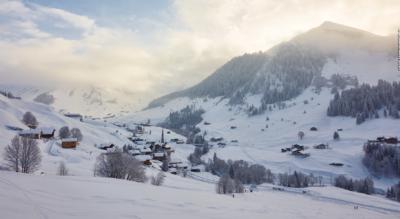 Schneeschuhtour Rätikon Panoramatour von St. Antönien via Alp Valun, Gafäll, Stelsersee auf den Stelserberg und nach Stels Mottis