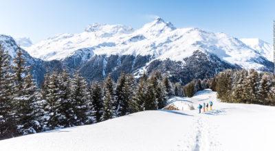 Schneeschuhtour von Savognin Parsonz auf dem Roggi's Schneeschuh-Trail