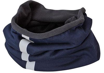Multifunktionales Schlauchtuch mit wärmendem Fleece und reflektierendem Streifen für die kalte Jahreszeit