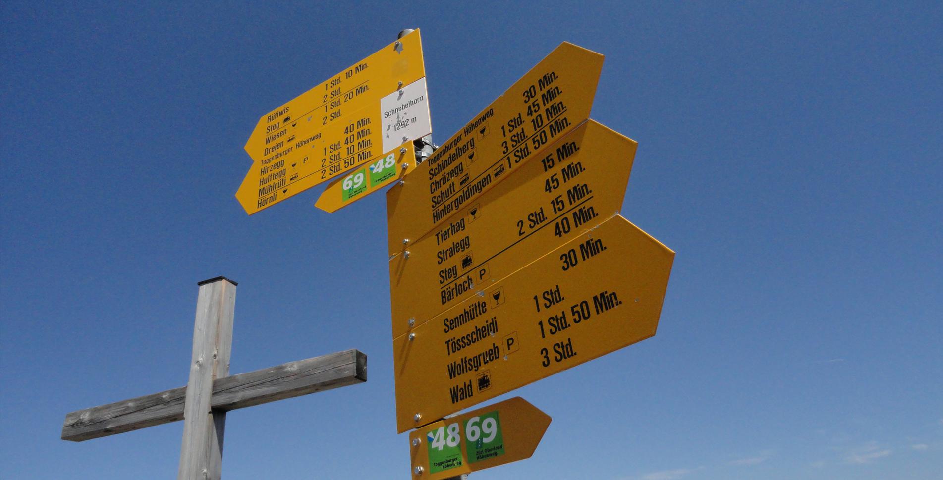 Wanderung auf's Schnebelhorn, 1'292 m – höchster Gipfel des Kanton Zürich