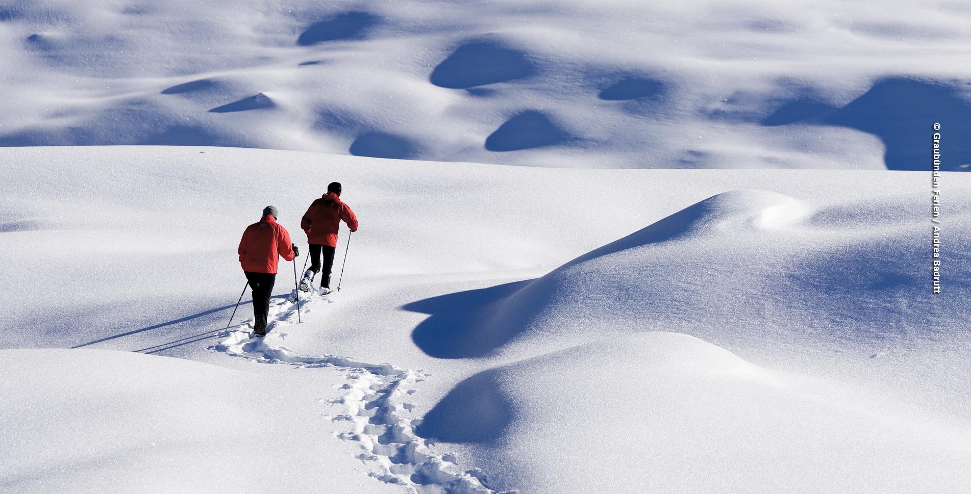 Schneeschuhtour von Arosa Maran auf dem Prätschalp-Schneeschuhtrail via Prätschalp und Ober Prätschsee