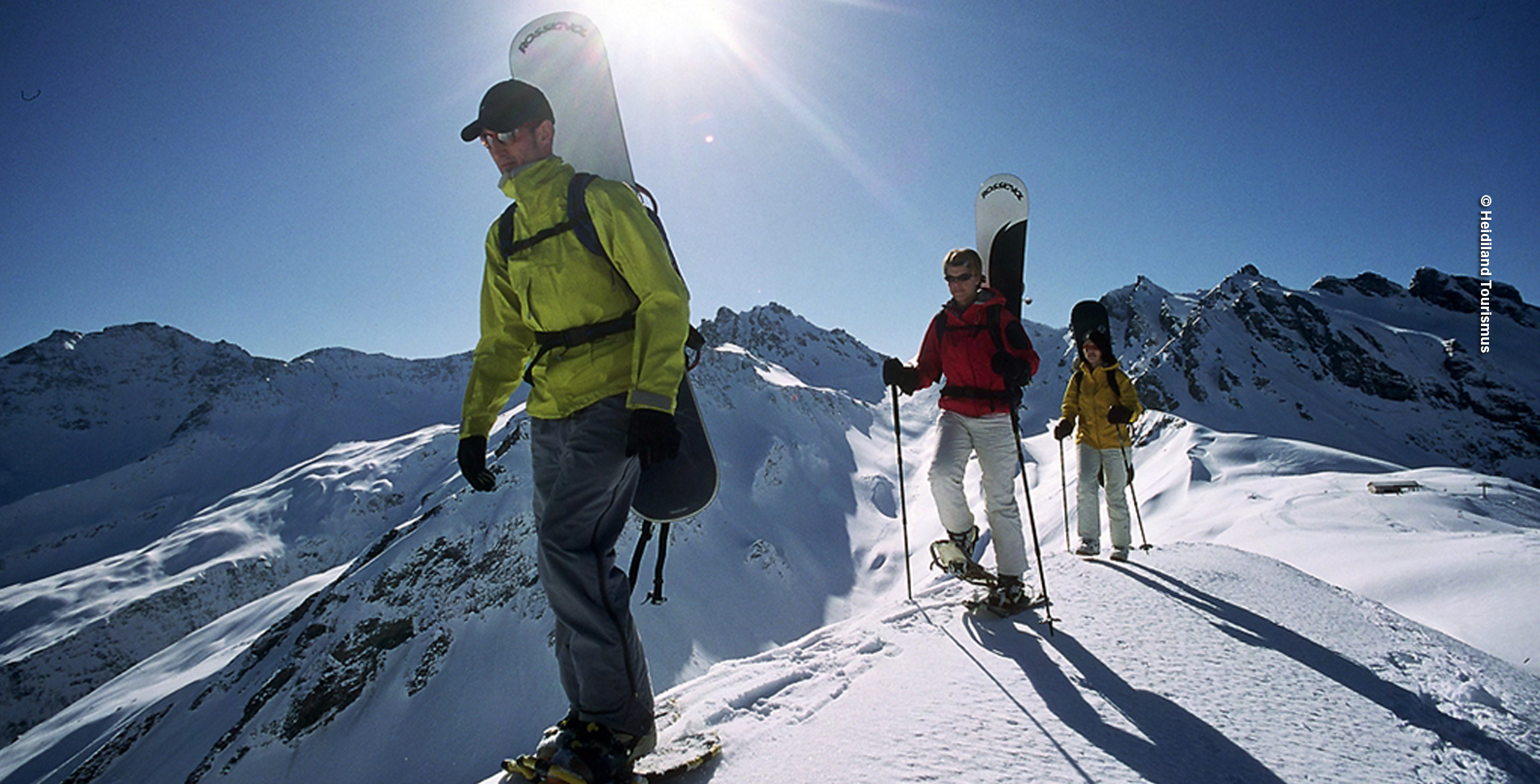 Schnesschuhtour im Pizol von Pardiel, oberhalb Bad Ragaz, nach Laufböden