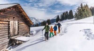 Schneeschuhtour von Savognin Parsonz auf dem Roggi's Trail