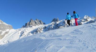 Schneeschuhlaufen von Engelberg Fürenalp auf dem Grotzli Trail