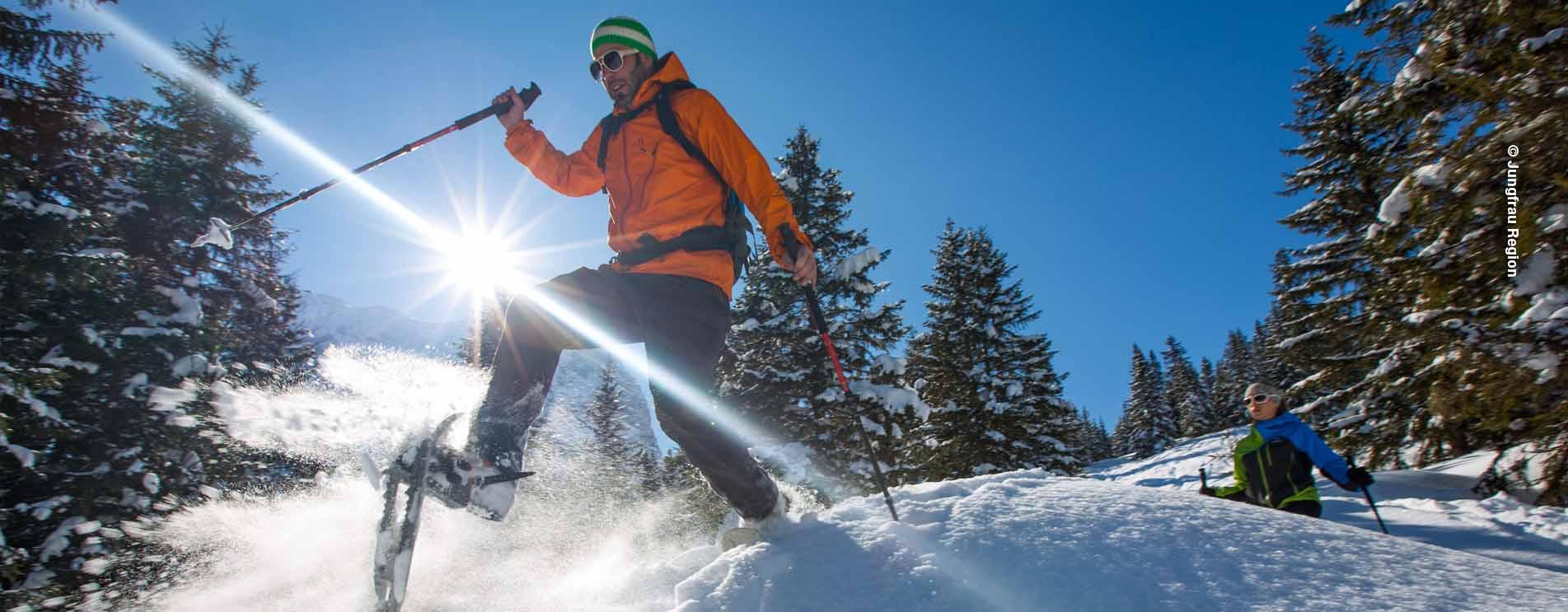 Schneeschuhwandern Schweiz – Die schönsten Schneeschuh-Trails