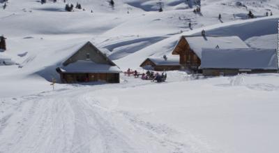 Schneeschuhtour / Schneeschuhwanderung im Flumserberg von Panüöl via Alp Fursch zur Spitzmeilenhütte SAC