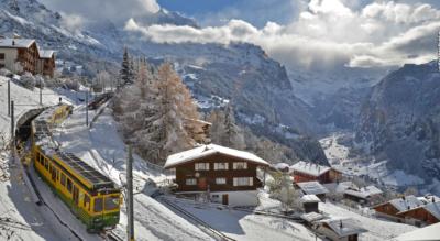Schneeschuhtour auf dem Leiterhorn Trail von Wengen via Ledi, Hunnenfluh, Leiterhorn, Ussri Allmi und wieder zurück nach Wengen