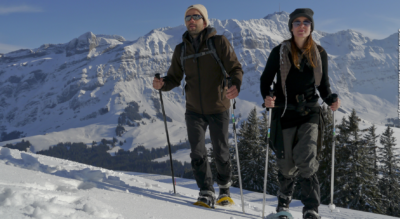 Schneeschuhwanderung / Schneeschuhtour von der Schwägalp, unterhalb Säntis, via Chammhaldenhütte, Schutzenälpli, Langälpli auf den Kronberg im Appenzell