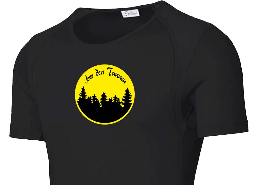Atmungsaktive, schnelltrocknende und superleichte Wander-T-Shirts / Outdoor-T-Shirts / Sport-T-Shirts von Schweizer Künstlern