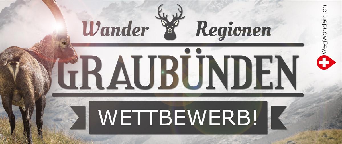 Nimm jetzt am Wettbewerb zur Sommerserie «Wanderregionen in Graubünden» teil und gewinne mit etwas Glück tolle Preise!