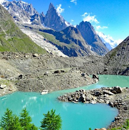 Wanderferien / Wanderreisen auf einer Tour um den Mont Blanc