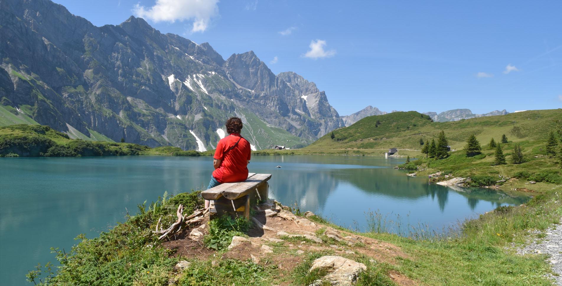 Vier-Seen-Wanderung von Engelberg nach Melchsee-Frutt mit Start beim Trübsee via Jochpass, Engstlensee, Engstlenalp, Tannalp, Tannensee, Melchsee