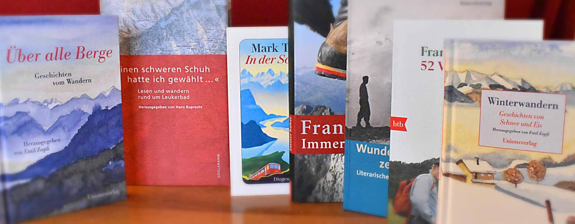 Wanderbücher-Tipps – Romane & Erzählungen über Wanderungen in der Schweiz