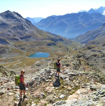 Wanderferien / Wanderreisen in Graubünden, Schweiz, auf Hüttentrekking