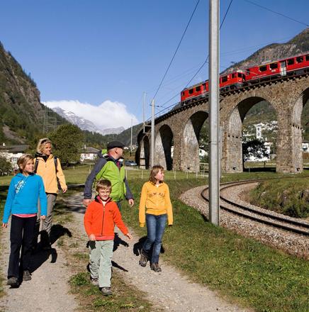 Wanderferien / Wanderreisen in der Schweiz, auf der Via Albula (Bernina)