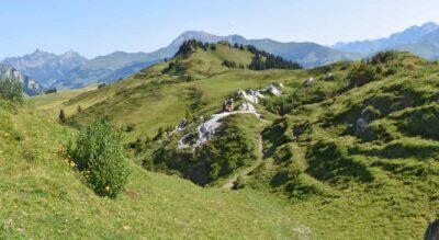 Wanderung auf dem Gryden Höhenrundweg mit Abstecher auf den Stübleni Gipfel, oberhalb Lenk im Simmental, mit Start und Endpunkt bei der Bergstation Betelberg Leiterli