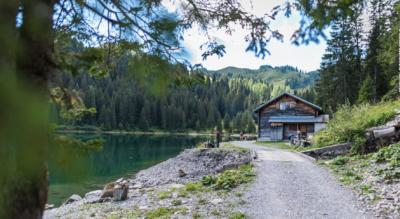 Wanderung von Col du Pillon (Galcier 3000, Les Diablerets) via Lac Retaud / Retaudsee, Col de Voré, Arnensee, Restaurant Huus am Arnensee nach Feutersoey im Saanenland