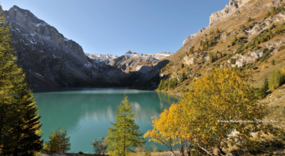 Wanderung von der Iffigenalp via Blattihütte auf den Rawilpass mit Abstieg via Armillon, Gîte de Lourantze, wo man im Tipizelt übernachten kann, und weiter zum Lac de Tseuzier mit der Staumauer Rawyl /Rawil bei Crans Montana