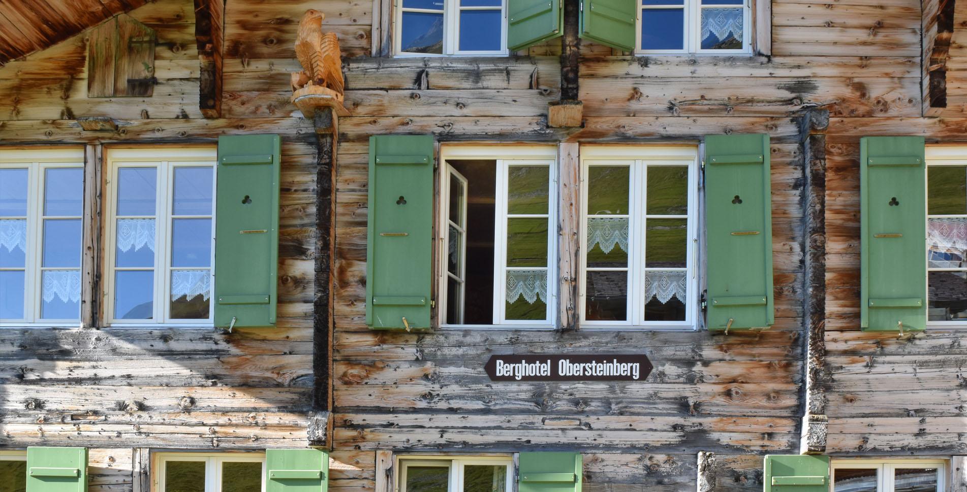 Wanderung im Hinteren Lauterbrunnental von Gimmelwald via Berggasthaus Tschingelhorn, Berghotel Obersteinberg, Schirboden, Berggasthaus Trachsellauenen nach Stechelberg
