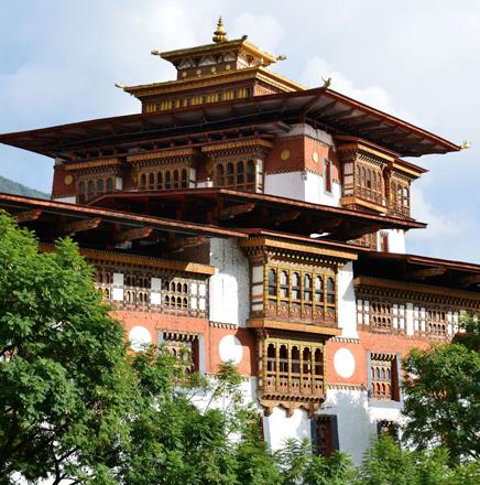 Wandern in Asien in Bhutan auf einer Wanderreise / Wanderferien