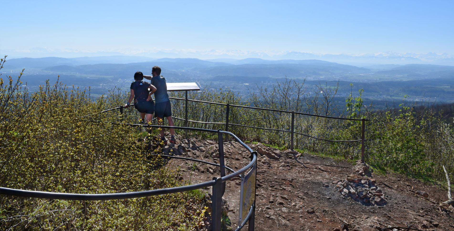 Wanderung von der Salhöhe zum Aussichtspunkt Wasserflue und weiter via Brunnenberg, Restaurant Waldhaus Gehren, Alpenzeiger nach Aarau.