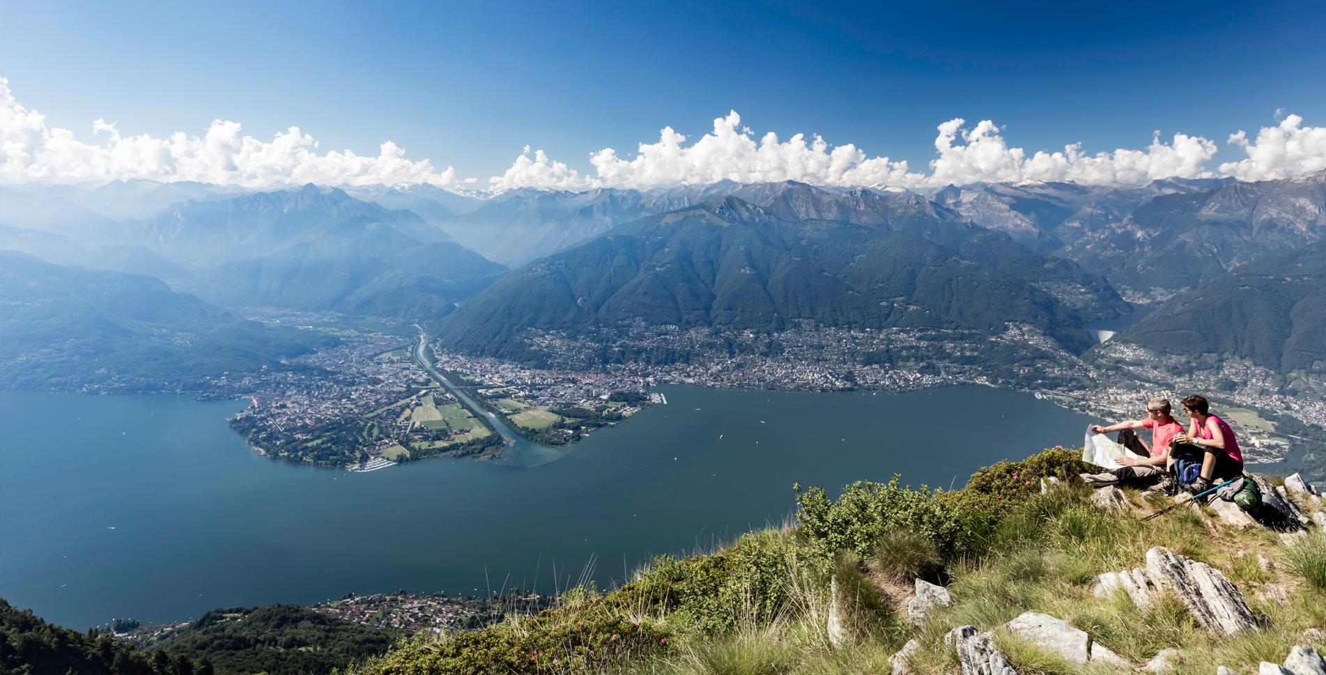 Wanderung von Locarno / Ascona, Monti della Trinità, auf dem Sentiero Collina Alta via Orselina, Madonna del Sasso nach Contra